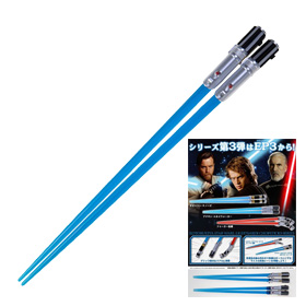 A fun mix of Japanese chopsticks and Star Wars themes! There are also other fun designs.