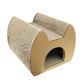 How about adding a new hiding place to your home for your cat?