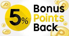 5% Bonus Points Back