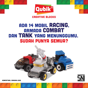Promo Mainan dan Hobi Rakuten - Qubik Racing Creative Blocks Mainan SNI Edukasi Anak Compatible With Lego Full Set 4 Variants.