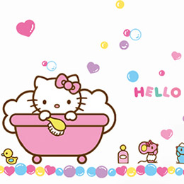 DIY 無痕創意Hello Kitty 牆貼/壁貼