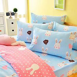 3M吸濕排汗迷戀兔床包組