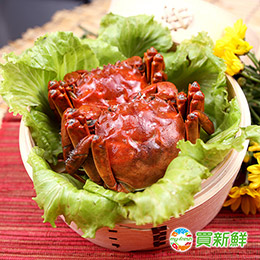 買新鮮 台灣大閘蟹5隻組 (淨重4兩±10%/隻)