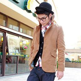 熱賣款 大領外套 仿古鈕扣 短風衣外套