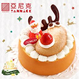 聖誕節限定❄雪莓麋鹿鹿-6吋蛋糕