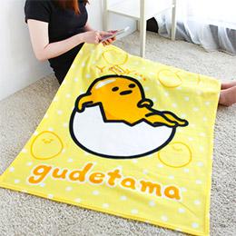 蛋黃哥丫~悠閒刷毛毯