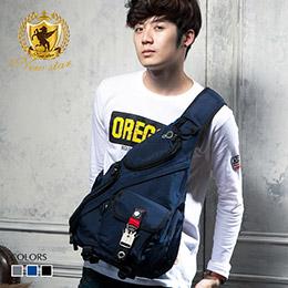 運動金屬扣單肩背包側背包