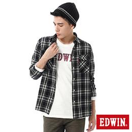 EDWIN 基本磨毛格紋 長袖襯衫