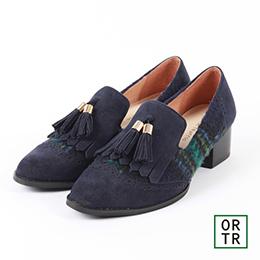 復古氣質雕花流蘇樂福鞋