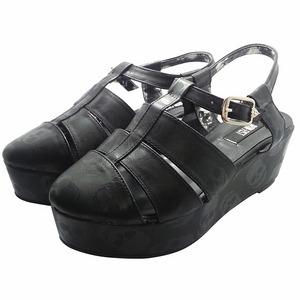 骷髏厚底羅馬涼鞋