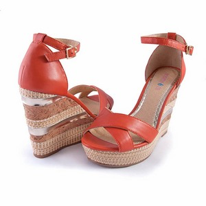 繫踝楔型厚底涼鞋