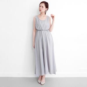 條紋及踝洋裝