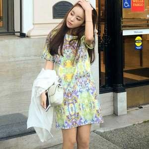 彩繪春漾顯瘦洋裝