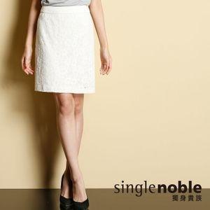 法式歐蕾 高腰緹花窄裙
