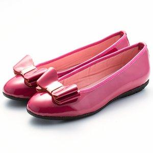 蝴蝶結漆皮芭蕾舞鞋