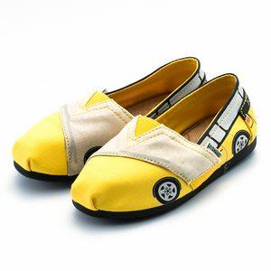 黃色小車膠底鞋