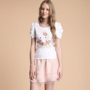法式玫瑰HELLO KITTY T恤