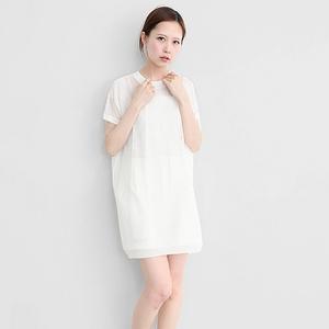 透視條紋長版針織衫