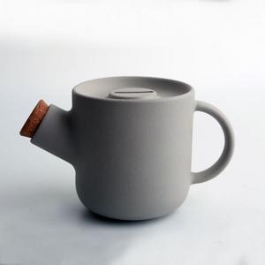 一圓壺(清水模色) 灰