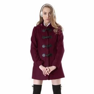 英倫牛角長版大衣