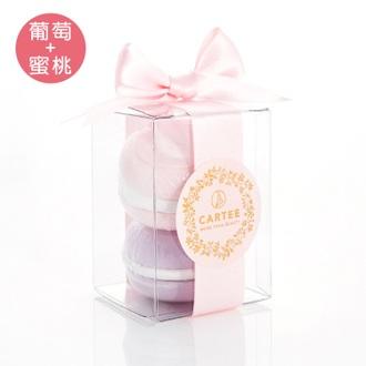 馬卡龍香氛氣泡浴球禮盒 Bath Bomb(葡萄汽水+蜜桃軟糖)