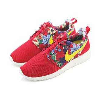 WMNS NIKE ROSHE ONE PRINT 休閒鞋 紅/花卉
