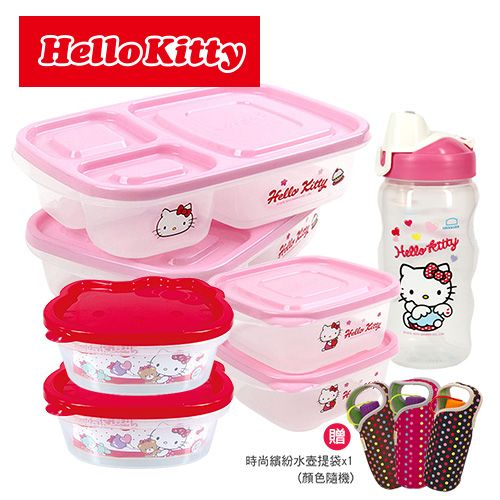 Hello Kitty幸運涼夏8件組 1B01-LKT802SP4-01 粉紅 粉紅