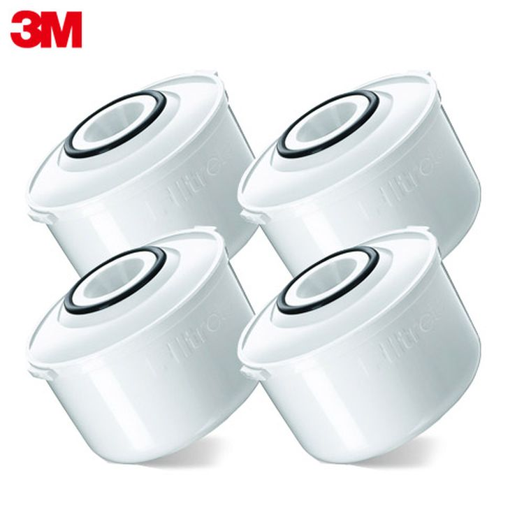 3M 濾水壺即淨長效濾心4入裝-白