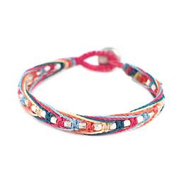 【wakami】五彩銀混色編織手環