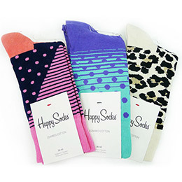 瑞典進口【Happy Socks】三入快樂禮盒 A組