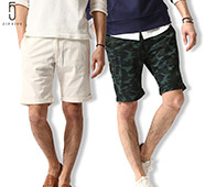 ZIP FIVE斜紋織短褲