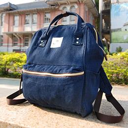 日本單寧風後背包