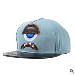 韓國代購大眼睛平沿帽棒球帽