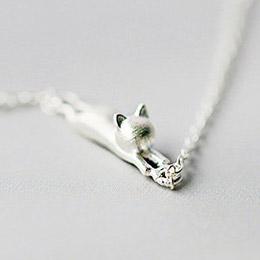 925純銀貓咪細緻手鍊