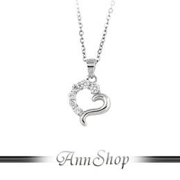 925純銀‧滿鑽心戀項鍊