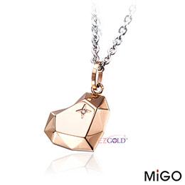 MiGO鋼飾♥愛的焦點♥玫瑰金愛心項鍊
