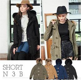 【日單】日本品牌SLY可拆式帽子保暖大衣外套
