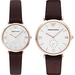 EMPORIO ARMANI情人簡約對錶腕錶