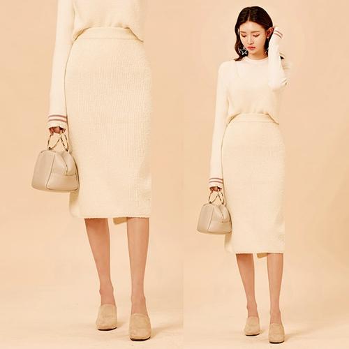 流行時尚針織長裙