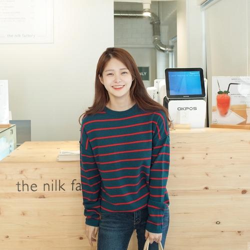 時尚條紋秋季毛衣
