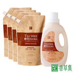 茶樹檜木洗衣精組合1+4