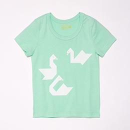 大白鵝蜜桃棉T-水綠