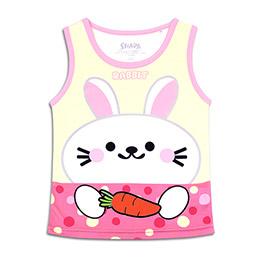 CoolMax全彩兒童背心_可愛兔兔