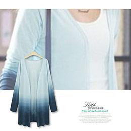 時尚漸層藍小外套