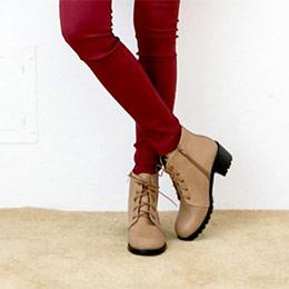英倫典藏簡約綁帶短靴