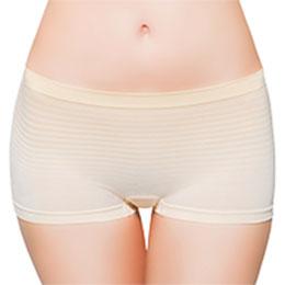 條紋無縫低腰平口內褲