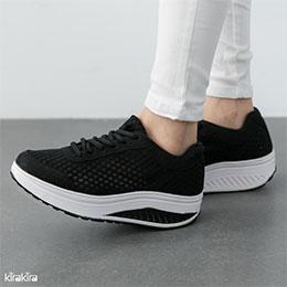 輕量健走透氣厚底休閒鞋