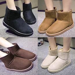雪靴極簡絨面保暖踝靴短靴