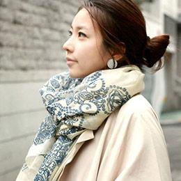 韓系多款巴黎棉紗圍巾