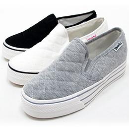 菱格紋懶人鬆糕厚底鞋